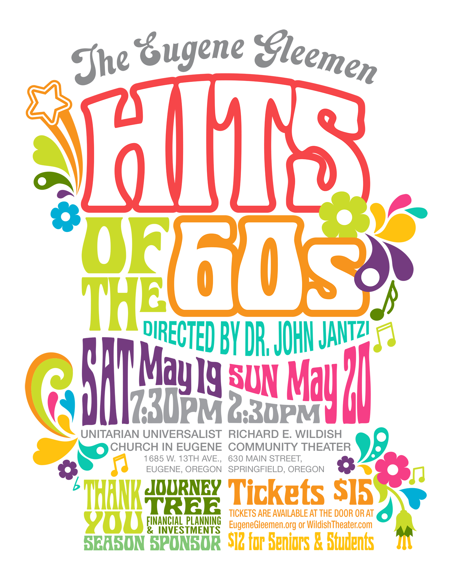 The Eugene Gleemen present Hits of the 60s on May 19 u0026 20. Join us for this special selection of favorites! Saturday evening tickets can be purchased on our ...  sc 1 th 255 & The Eugene Gleemen Spring Concert - The Eugene Gleemen